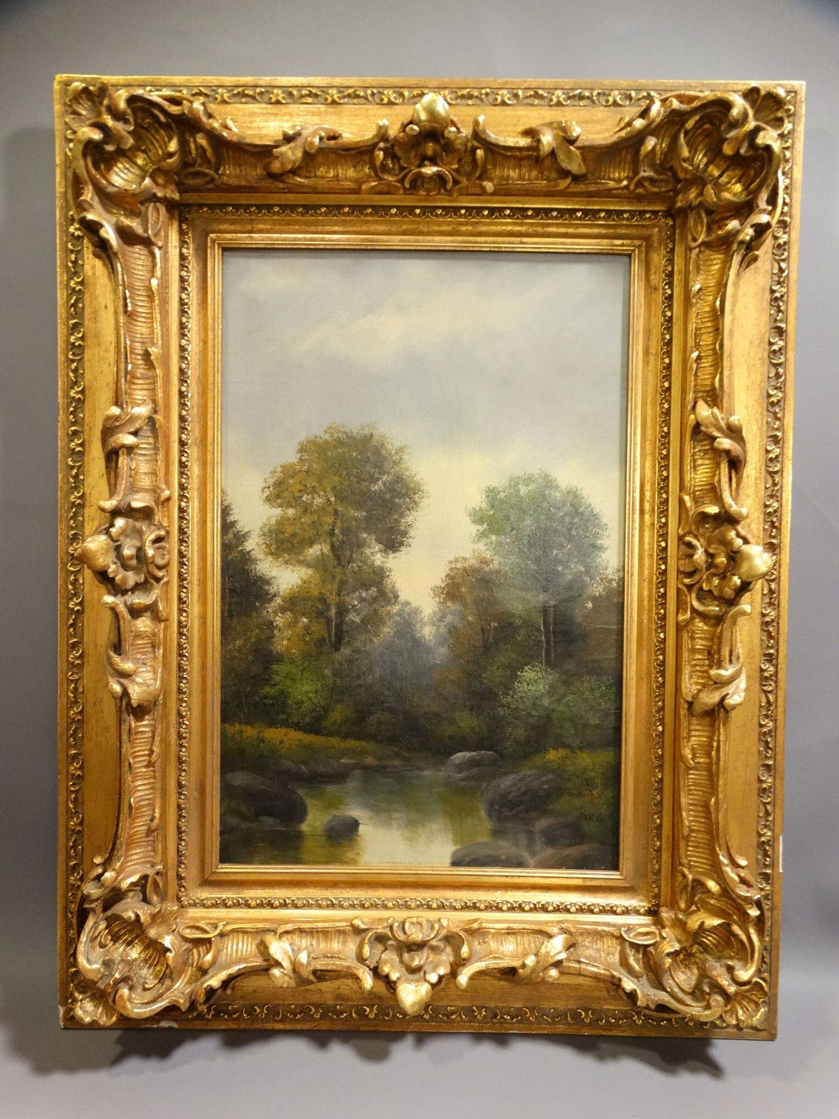 19thC Antique VICTORIAN Era RIVER VALLEY Old STREAM Landscape OLD Oil PAINTING https://t.co/OJrZDPZNHx https://t.co/zedGY119Vo
