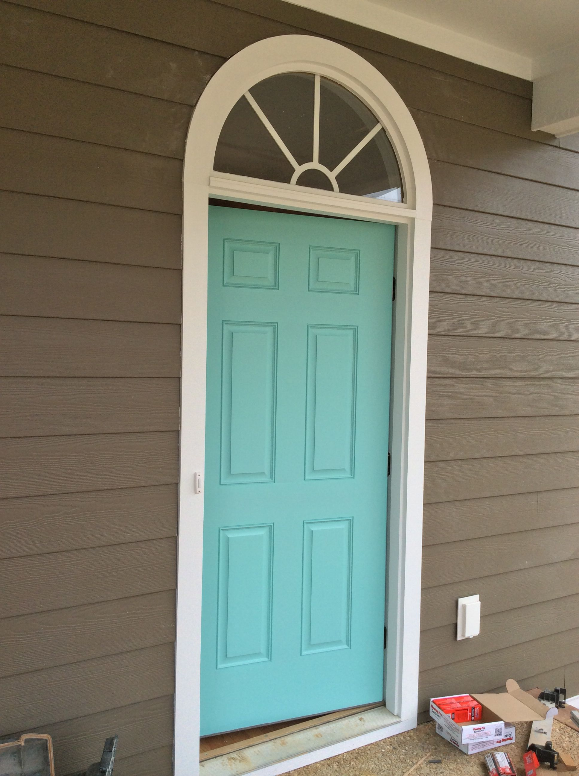 House Door In Holiday Turquoise Sw