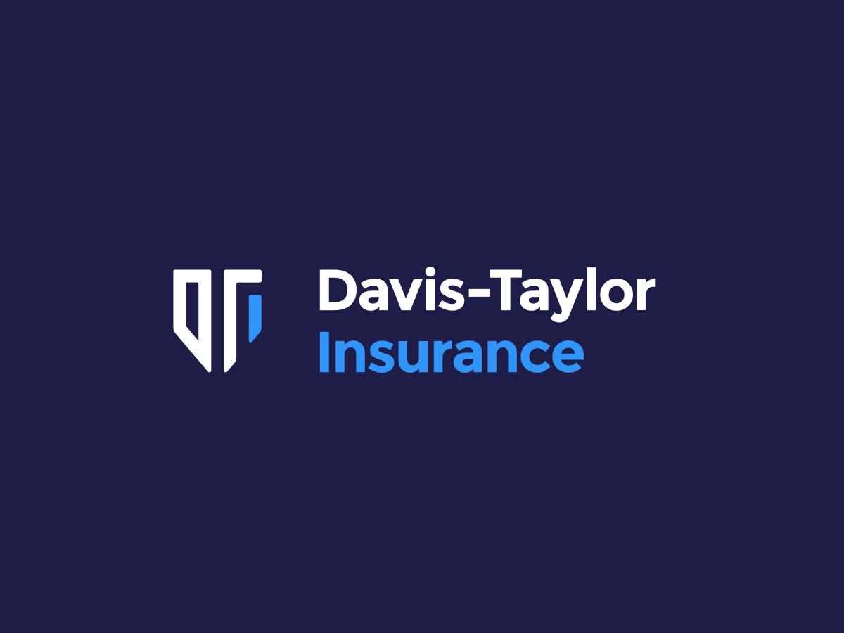 Davis Taylor Insurance Logo In 2020 Logos Insurance Logo Design