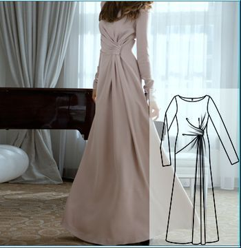 Бурда выкройка платье в пол