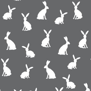 Hawthorne Threads - Cottontail Silhouette - Cottontail Silhouette in Charcoal