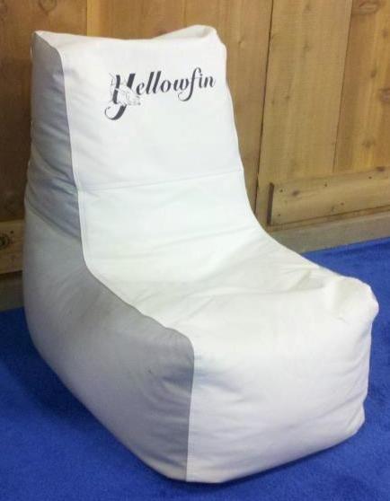 Ocean Tamer Wedge Marine Bean Bag With A Custom Yellowfin Yachts Logo