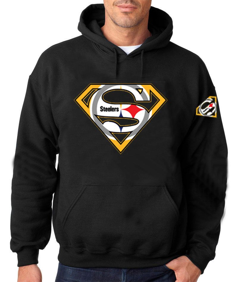 lowest price be885 c3273 Superman Pittsburgh Custom Browns Logo BLACK HOODIE. Add ...