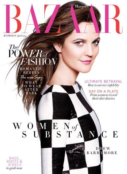 cool Harper's Bazaar Austrália   Capa Abril 2013   Drew Barrymore por Daniel Jackson