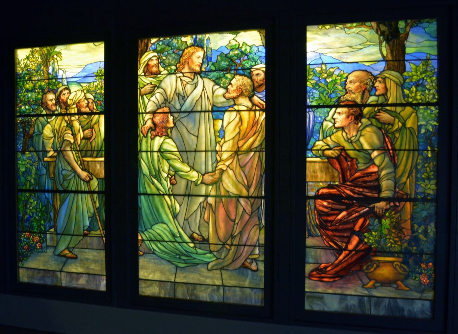 Tiffany window in the Driehous Gallery, Navy Pier Chicago