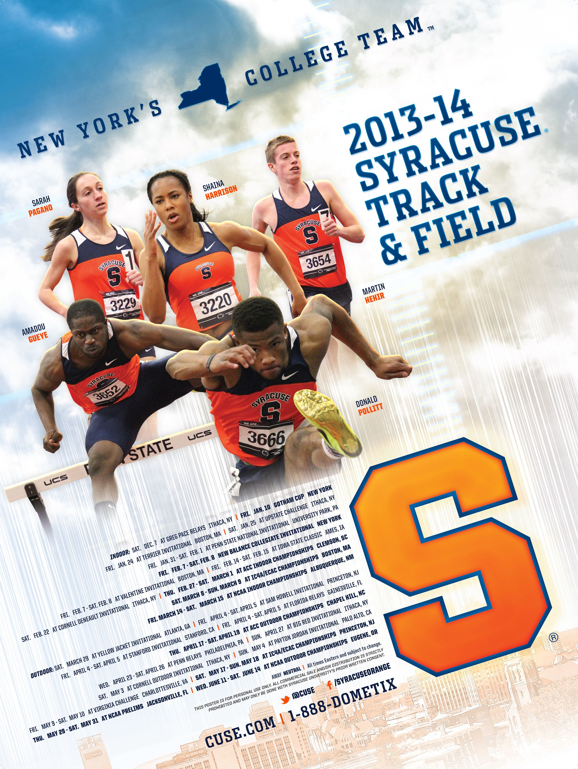 Syracuse Track & Field 2014 poster Track and field