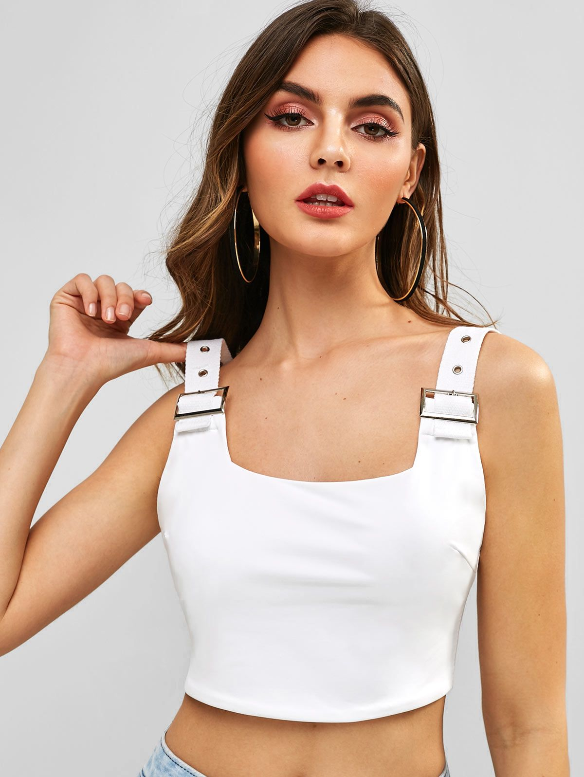 45+ Square neck crop tank top trends