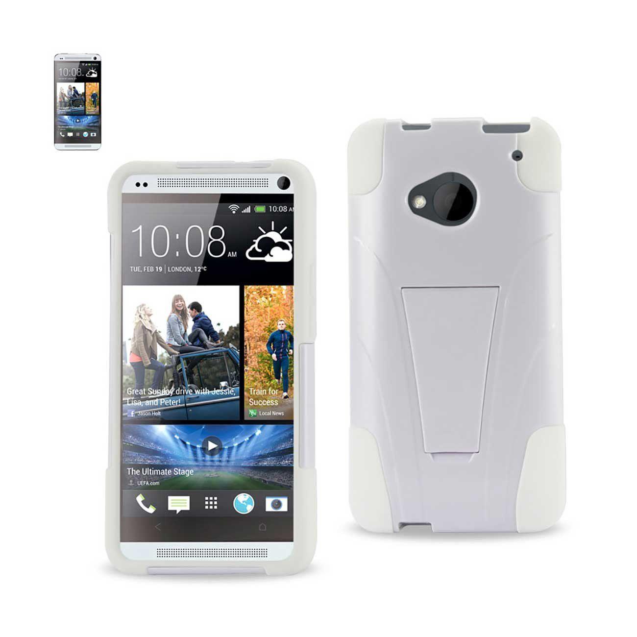 low priced 71ea1 214d5 Reiko Htc One M7 Hybrid Case With Kickstand White   MaxStrata   Shop ...