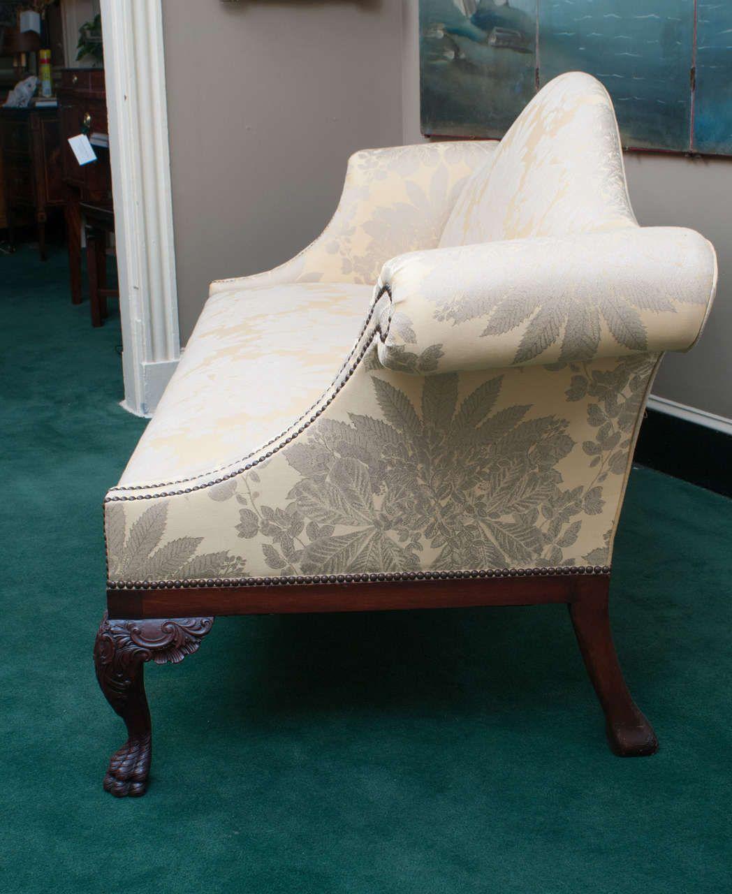large georgian style chippendale camelback sofa england or ireland rh pinterest com