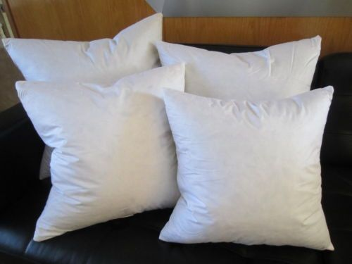 FEATHER DOWN Square Euro Pillow Insert Form ALL SIZES Made In Amazing Euro Size Pillow Inserts