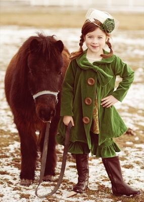 """Persnickety Gorgeous Green Velvet """"Rosemary"""" CoatSizes 12m - 12 - click to enlarge"""