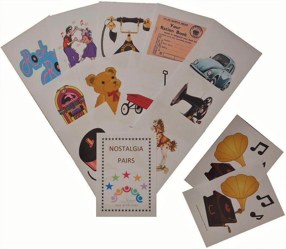 Details about Pairs Card GameNostalgia,Dementia