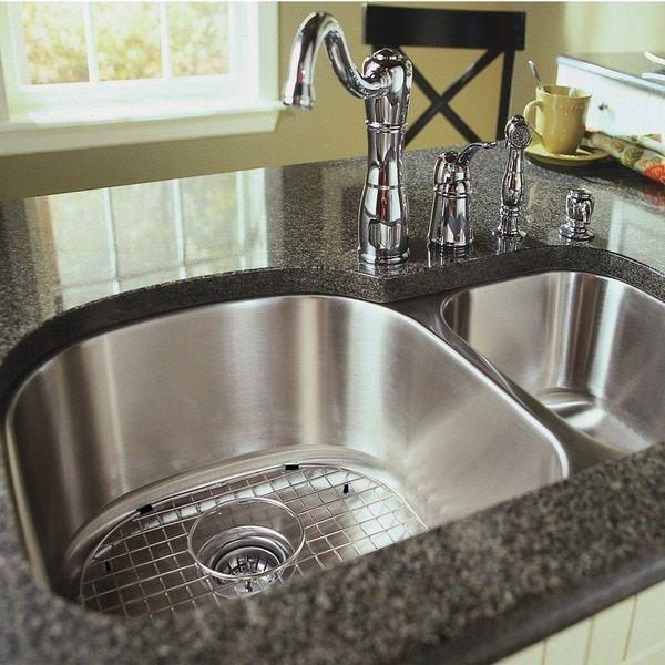 Stainless Steel 38-inch Undermount 70/30 2-bowl Kitchen Sink ...