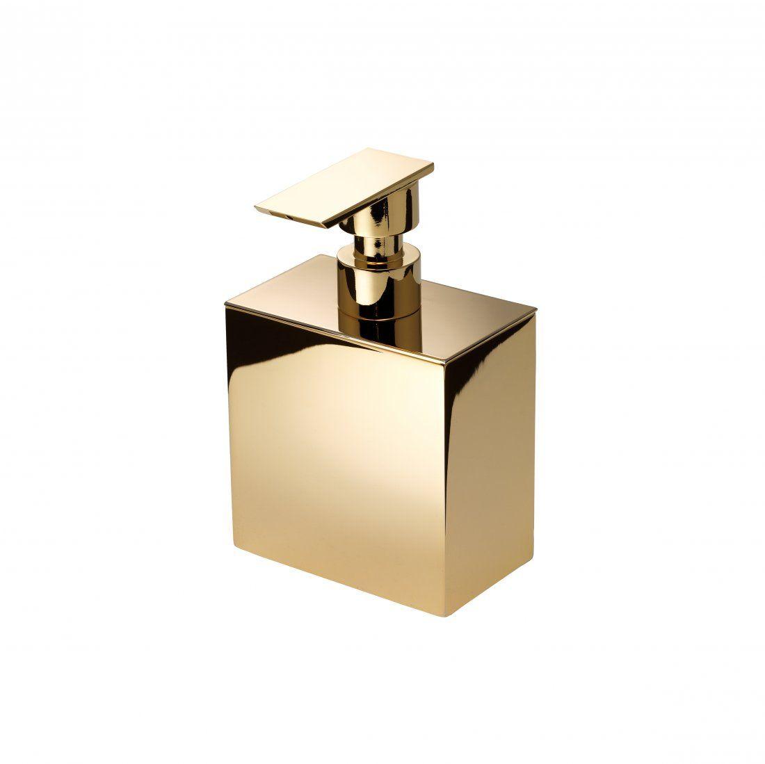 Klomfar Klomfar Big Spender Soap Dispenser Gilded Brass Seifenspender Badezimmer Einrichtung Und Messing