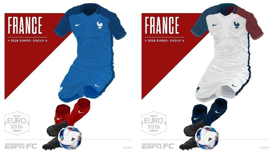 Camisa da Seleção da França Eurocopa 2016-2017 Nike