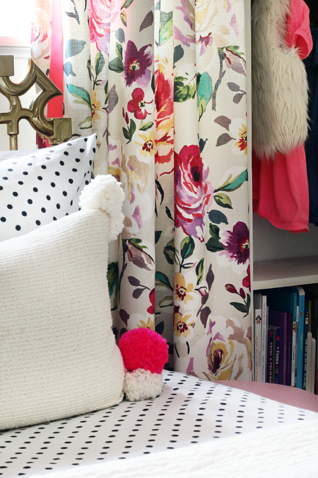 Neon Floral Drapery Hunted Interior Floral Drapery Floral