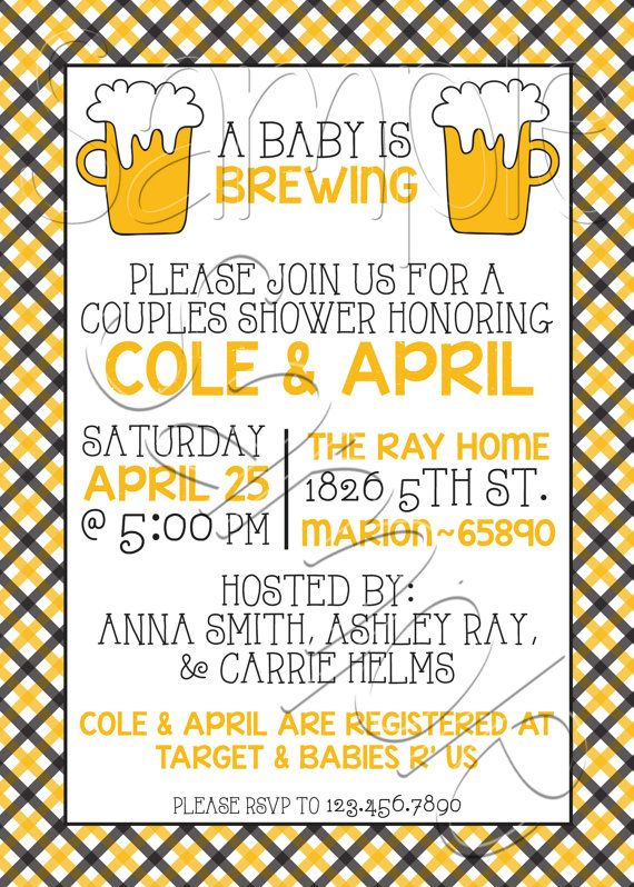 A Baby is Brewing Beer Couples Baby Shower by SpencerReedDesigns on Etsy