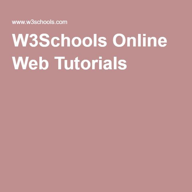 w3schools online web tutorials webpage development