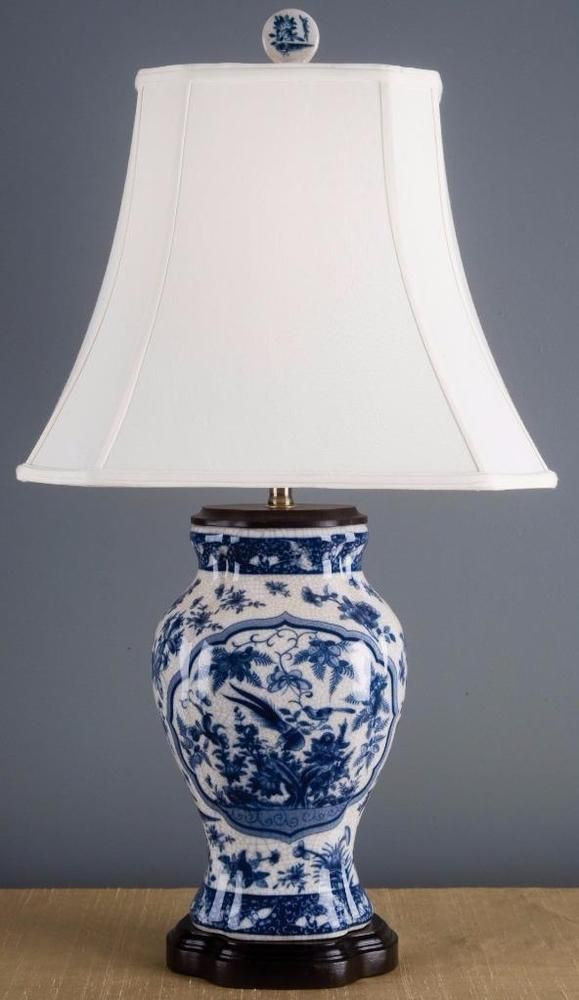 Us 300 00 New In Collectibles Lamps Lighting Lamps Electric Lamp Navy Lamp Shade Porcelain Blue