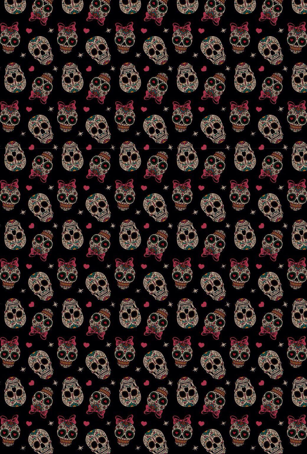 iPhone wallpaper | Wallpaper | Skull wallpaper, Sugar skull