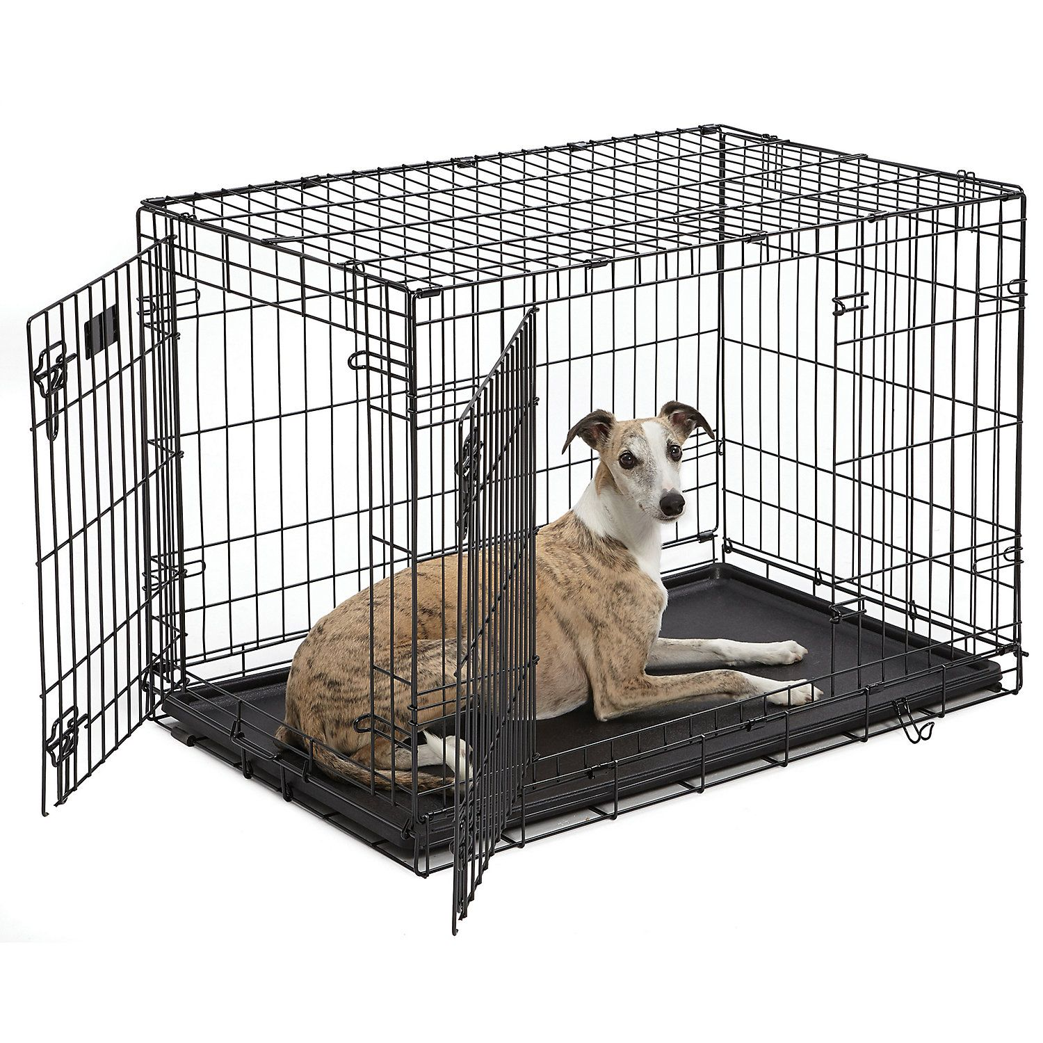 Midwest Icrate Double Door Folding Dog Crate 36 L X 23 W X 25