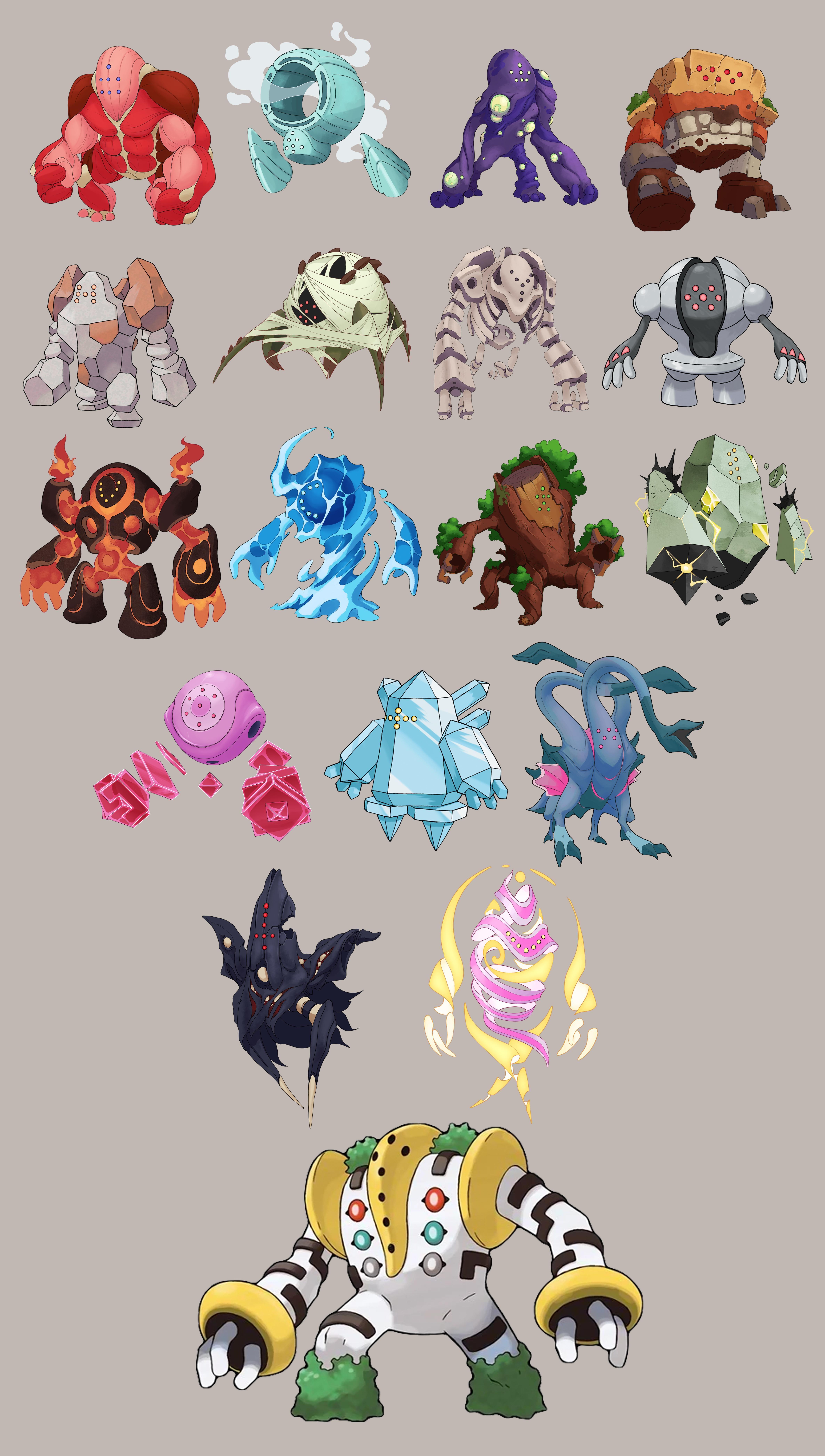 Regi Elemental Family Pokemon Don T Own Pokemon Breeds Pokemon Pictures Pokemon Eevee