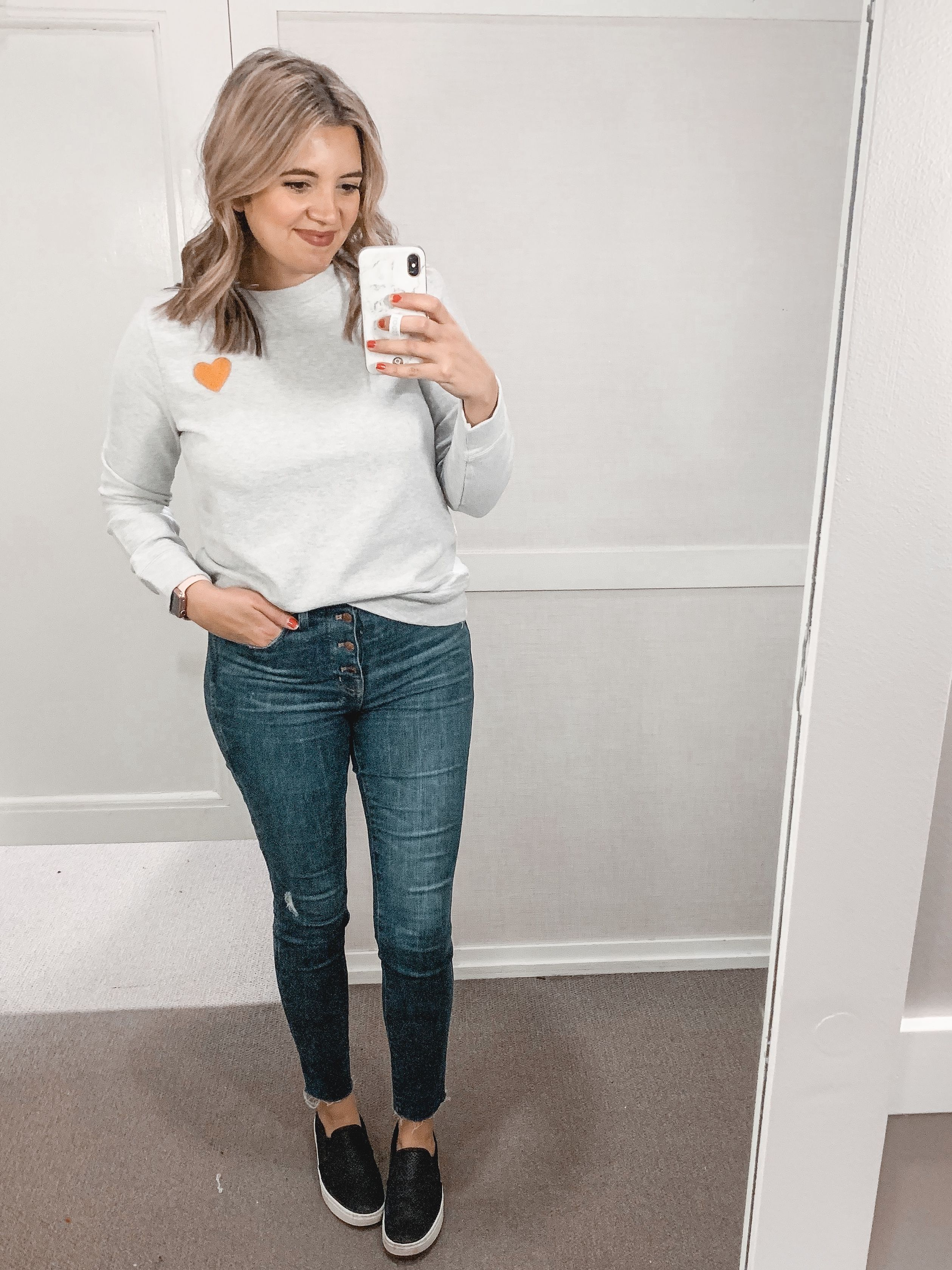 bbae737f91 Affordable style blogger Lauren Dix shares a January Loft try on with over  ten winter outfits!