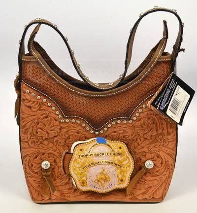 Ever Wondered What To Do With All Those Trophy Belt Buckles Here Is The Solution Montana Silversmiths Leather Buckle Purse