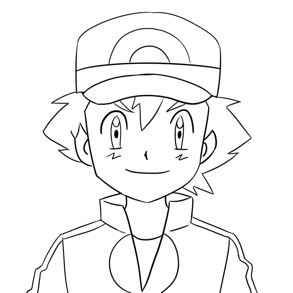 2 Ways To Draw Ash From Pokemon With Pictures Improveyourdrawings Com Ash Pokemon Pokemon Pokemon Faces