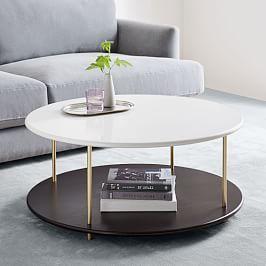 Stacked Disk Storage Coffee Table Walnut Anthracite 2020 Mobilya