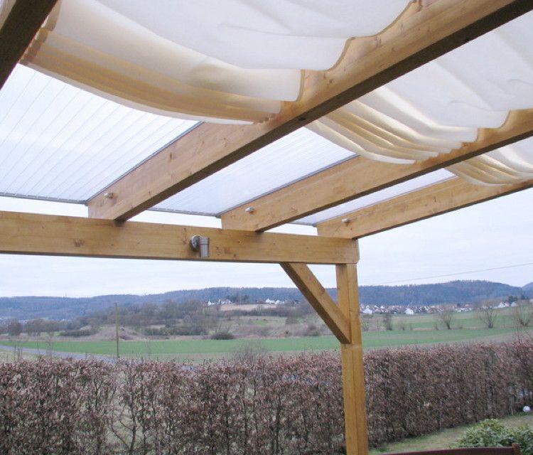 Glasdach-Sonnensegel 68x330 cm Uni weiß, Faltsonnensegel ...