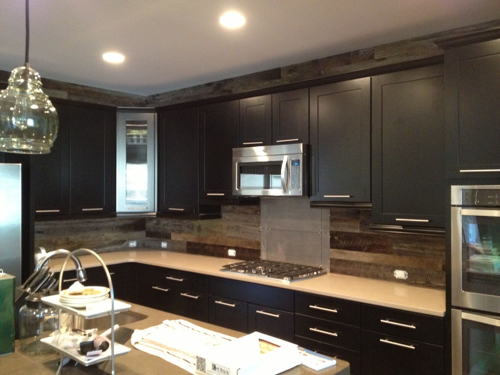 Barn Board Siding Is A Great Choice For The Backsplash And