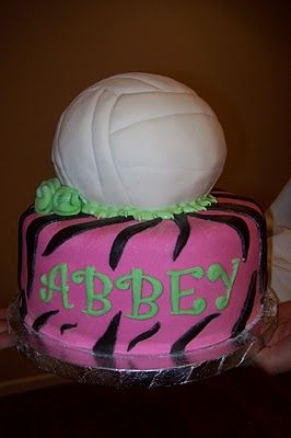 Volleyball Birthday Cake With Images Volleyball Birthday Cakes Cool Cake Designs Fun Desserts
