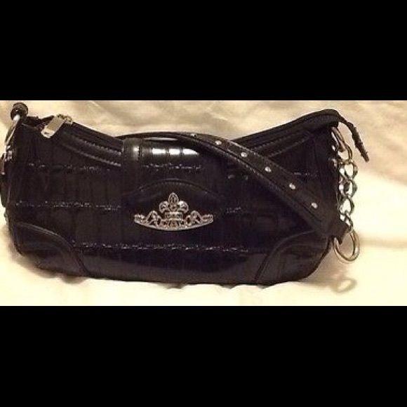 b3afd47c1f8c MC Marc Chantal Black Faux Croc Leather Handbag. MC Marc Chantal Genuine Purse  Bag Black Faux Croc Leather Handbag Nice. M.C Marc Chantal Bags Hobos