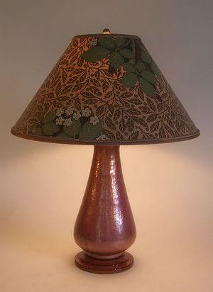 Hammered Copperlamp Bradbury Bradbury Art Wall Paper Lamp Shade Sue Johnson Custom Lamps Shades Copper Table Lamp Lamp Paper Lampshade