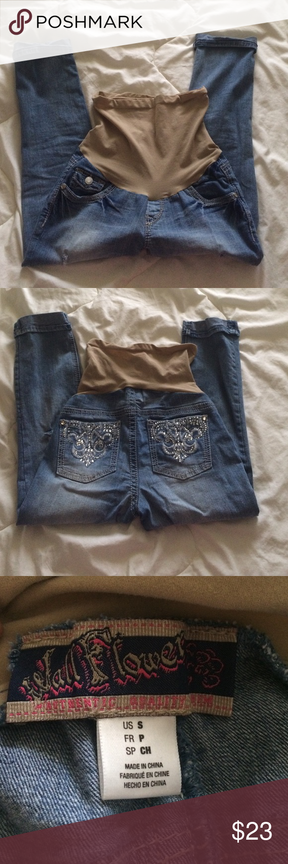 Motherhood distressed maternity jeans Motherhood distressed maternity jeans. They are very comfy and cute! In excellent condition.  They have been worn a few times only and never been dried in the dryer. Size small. Motherhood Maternity Other