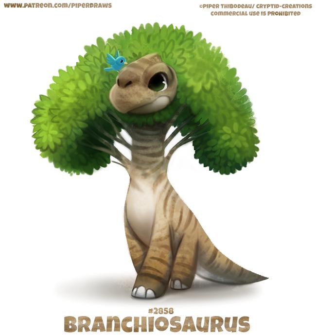 2858 Branchiosaurus Word Play By Cryptid Creations On Deviantart In 2020 Cute Drawings Animal Drawings Cute Animal Drawings