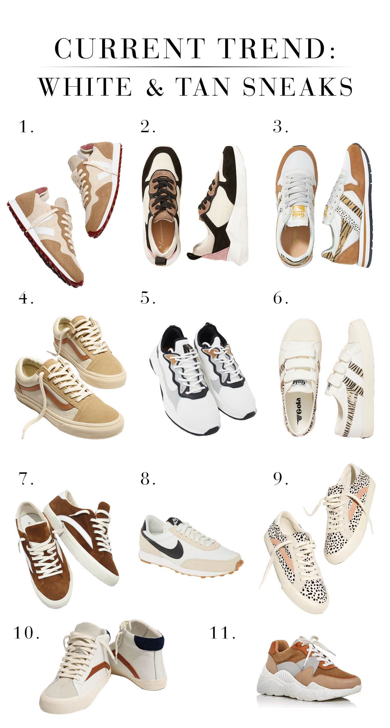 Trend Alert Tan White Sneakers In 2020 Tan Sneakers Stylish Sneakers Women White Tennis Shoes Outfit
