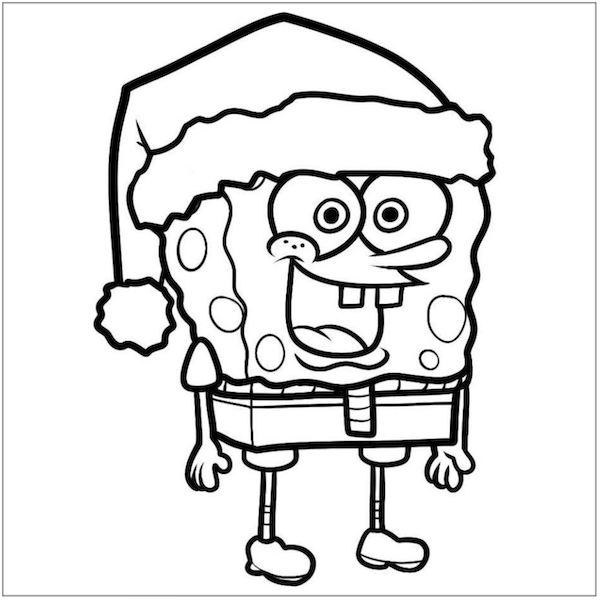 Coloring Pages How To Draw Christmas Spongebob Step Svg Free Printable Remarkable