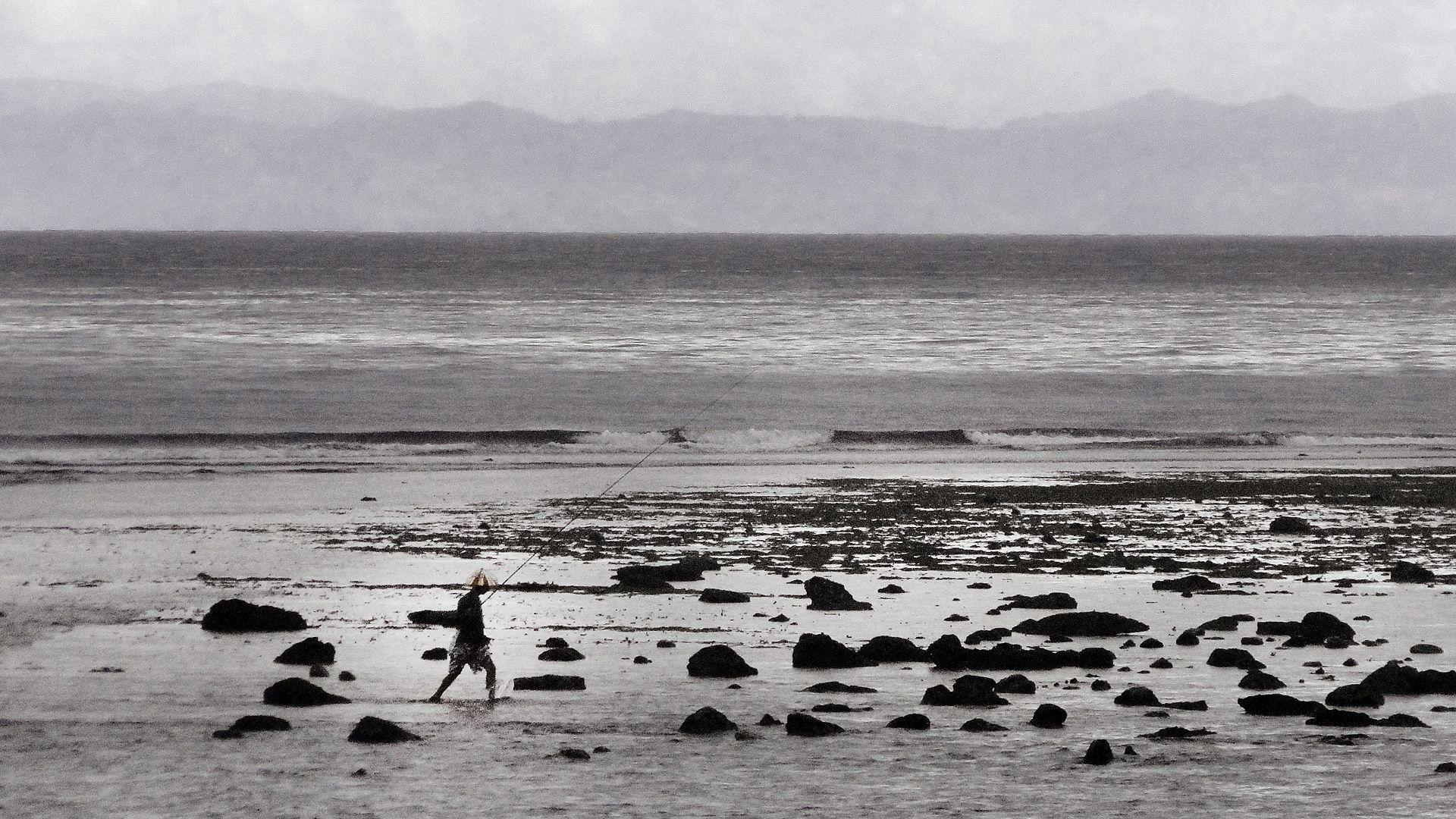 walking along shoreline