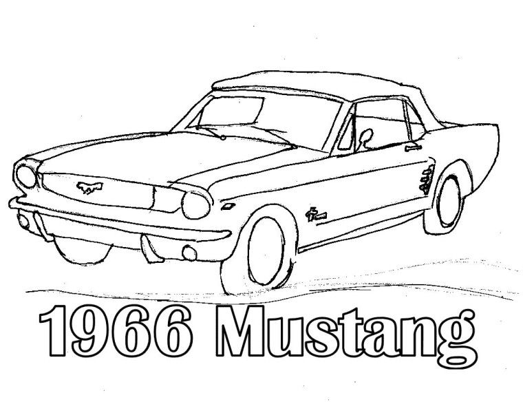 1966 Mustang Coloring Pages | mustangs | Pinterest | Mustang ...