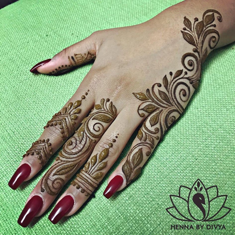 35+ Beautiful and Easy Mehndi Designs For Eid You Must Try is part of Eid mehndi designs, Mehndi simple, Henna designs hand, Henna patterns, Henna designs easy, Simple mehndi designs - Festival is one of the reasons that brings happiness in our stressful life  Everyone wants to look good on every festive occasion and therefore they buy clothes, jewelry and other accessories  But one thing that