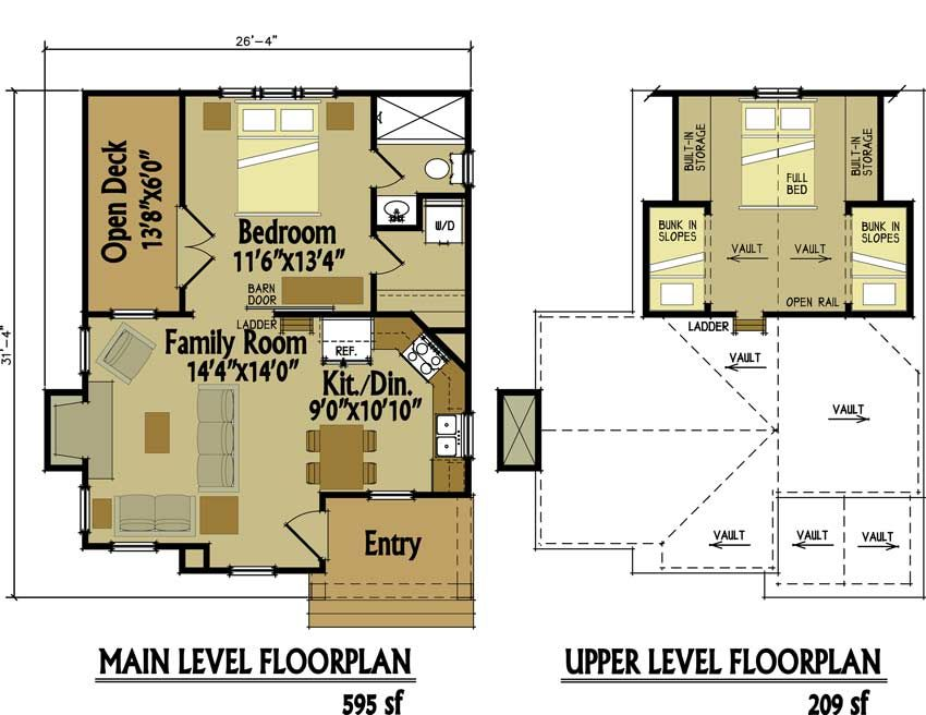 small cottage floor plan with loft - Small House Plans With Loft