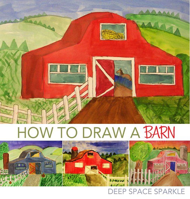 Drawing Barns and Rural Settings | Deep Space Sparkle