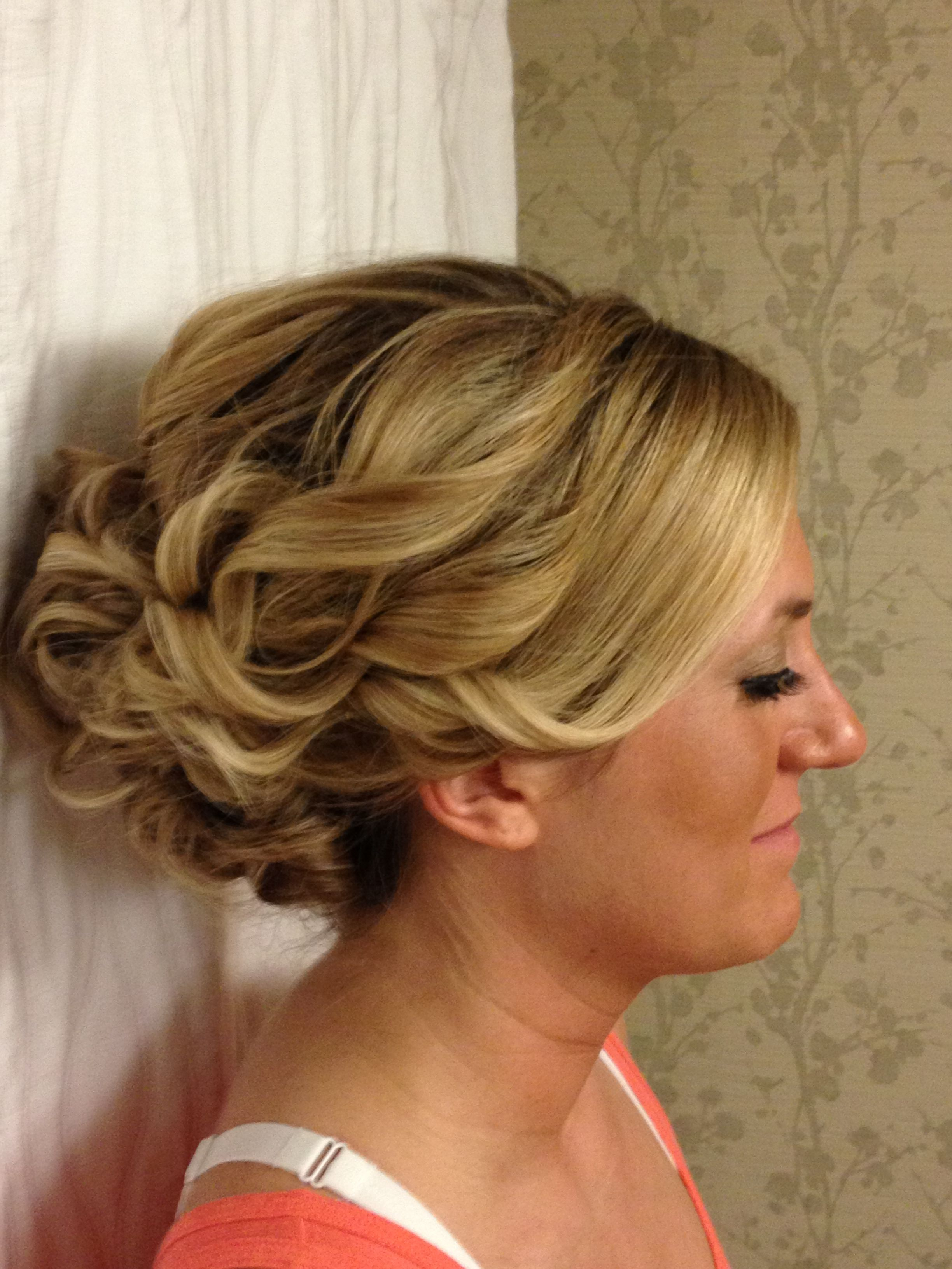 updo for long, thick hair for homecoming or a wedding