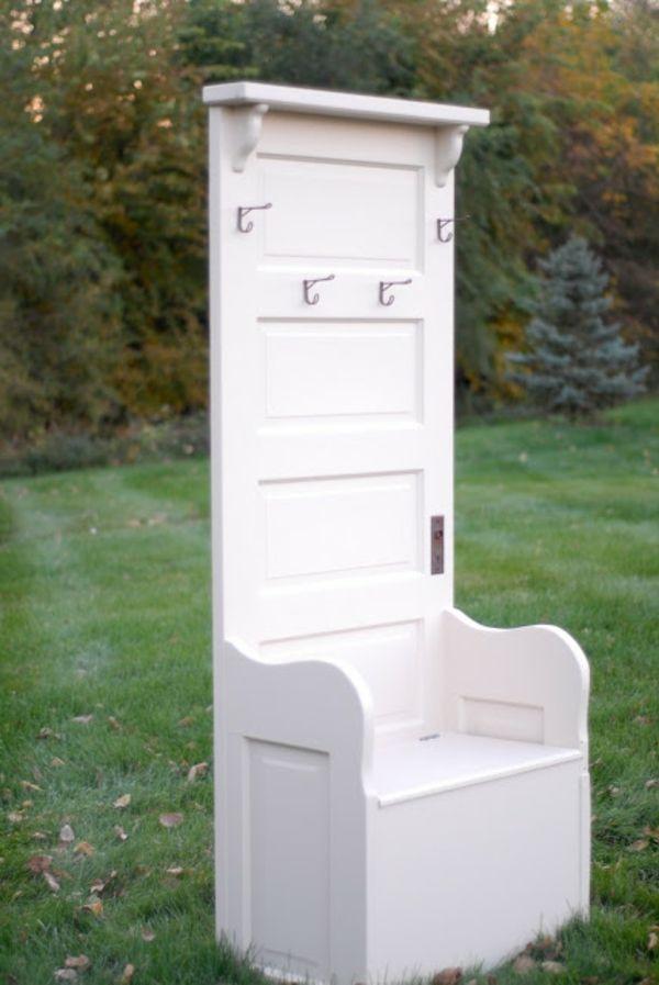 Handgemachte Möbel Und Dekorationen Aus Alten Türen Stuhl Weiß Idee