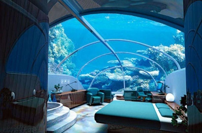 Wonderful Fish Tank Bedroom Wall Design Fish Tank
