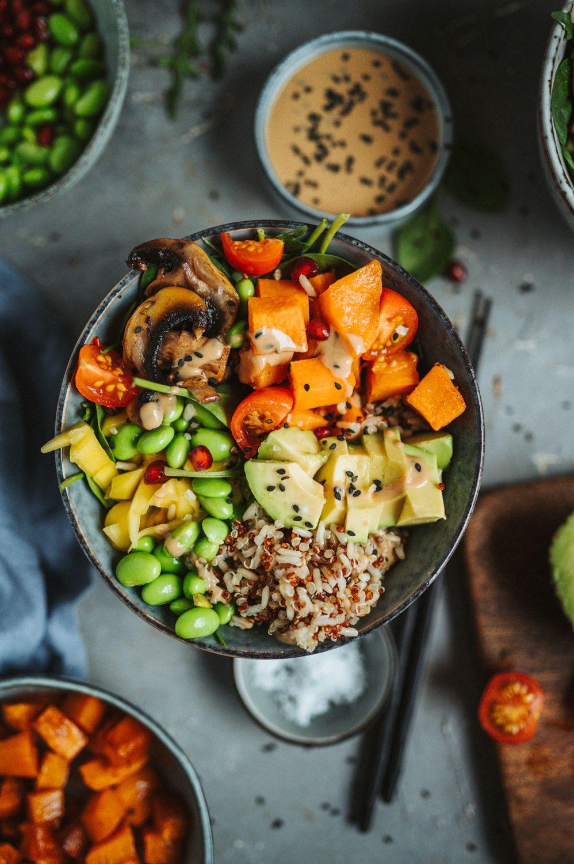 Ofensüßkartoffel-Bowl: Bunt und lecker ⋆ Knusperstübchen