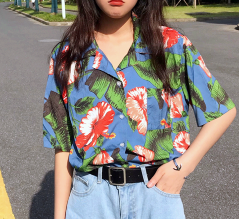 Vintage Flower Floral Printed Shirt Cool Outfits Vintage Outfits Fashion Outfits