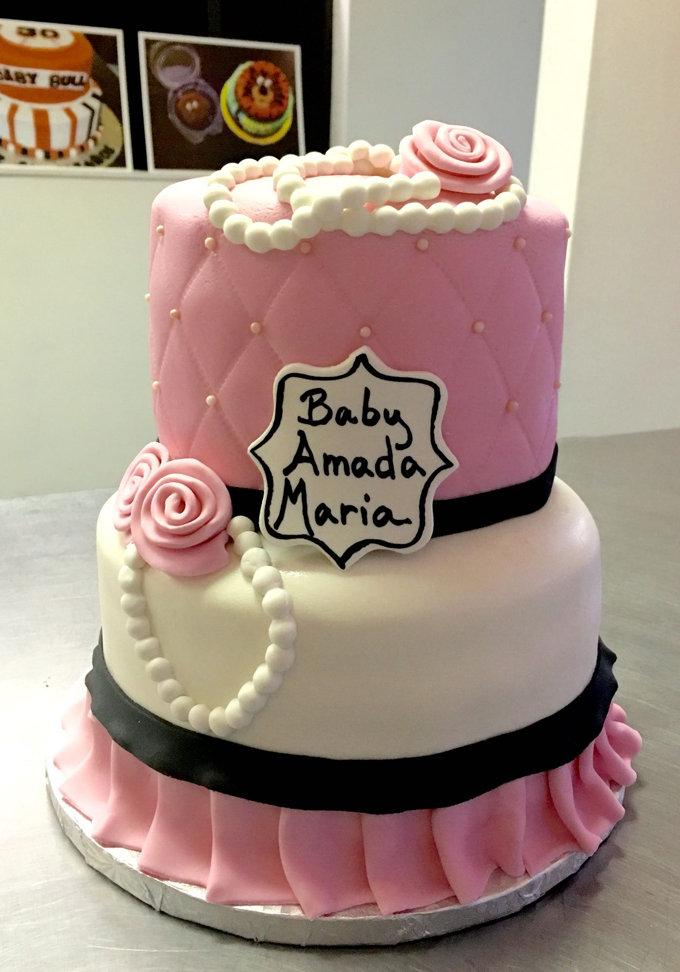 Paris Themed Cake For Baby Shower Bridal Shower Or Birthday By The